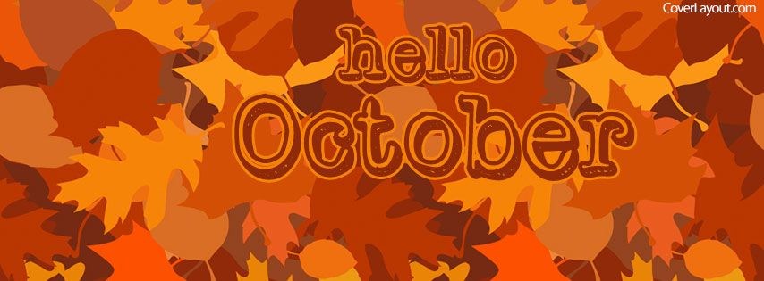 Hello October Facebook Cover Photos