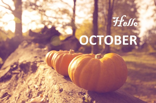 Hello October Halloween Images