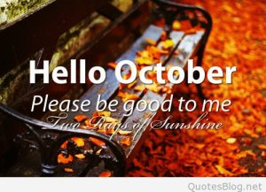 Hello October Images and Quotes