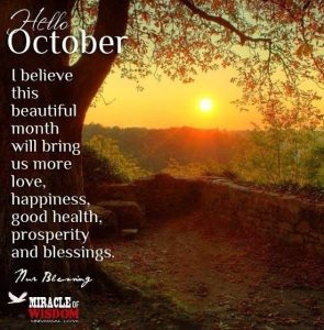 Hello October Quotes