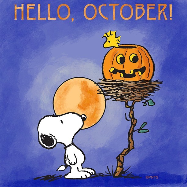Hello October Snoopy Images