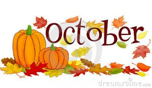 October Month Clipart