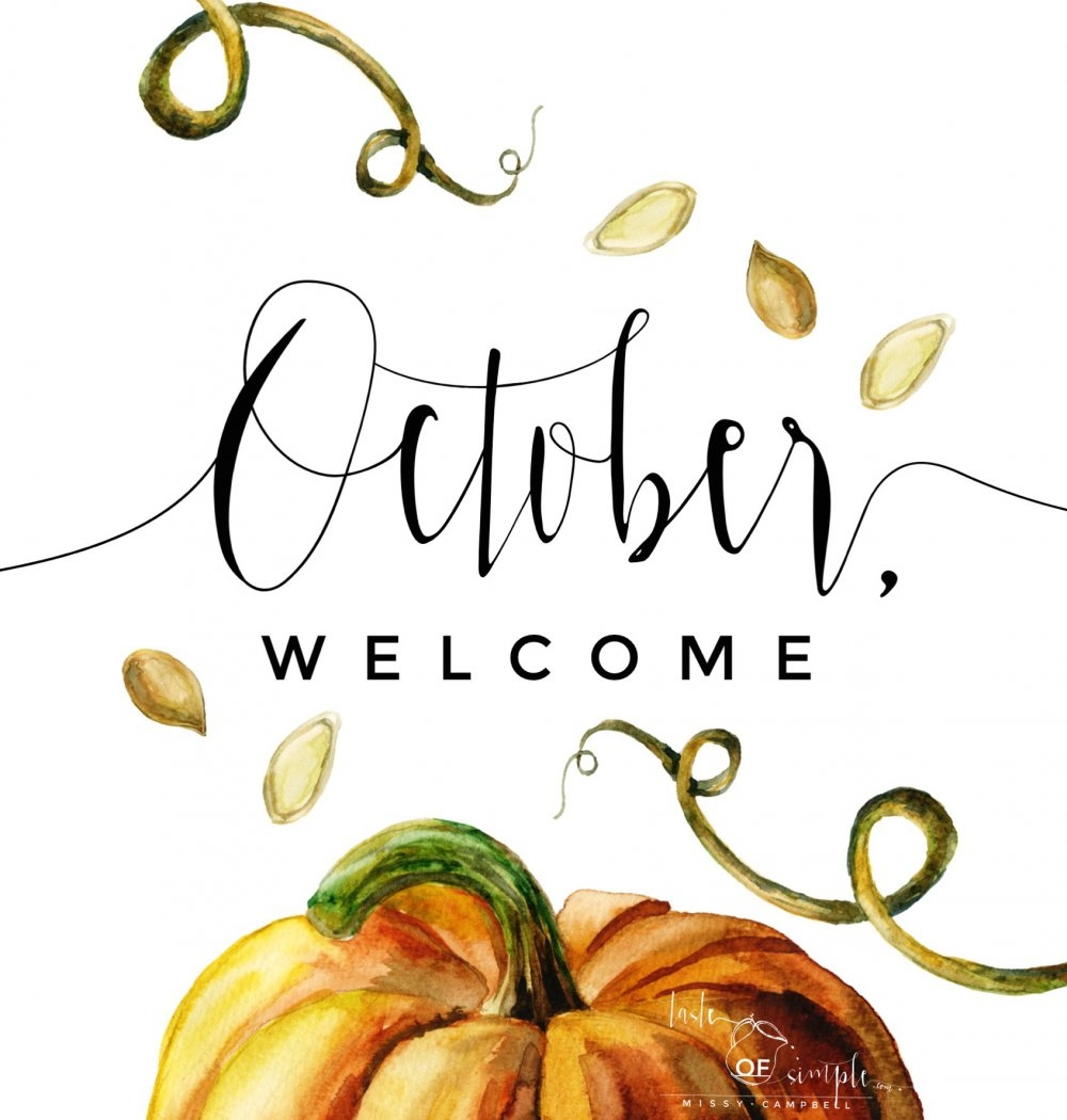 Welcome October Autumn Images