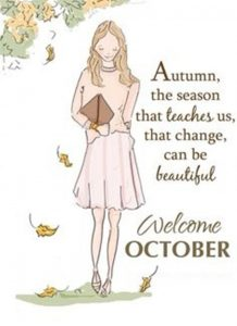 Welcome October Autumn Quotes