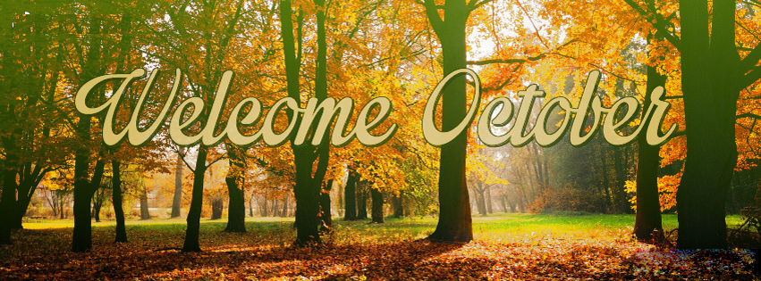 Welcome October Facebook Cover Images