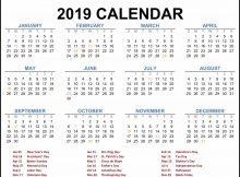 2019 Federal Holiday Calendar