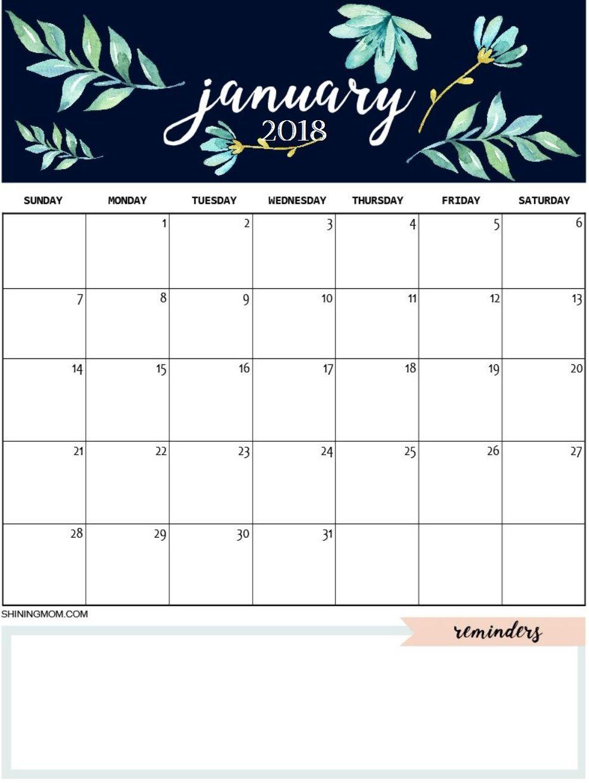 January 2019 Calendar A4 Size