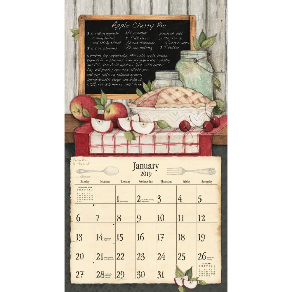 January 2019 Calendar Wallpaper