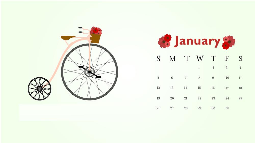 January 2020 Calendar HD Wallpaper