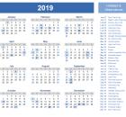 Canada Holidays 2019