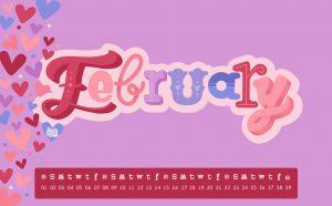 Cute February 2020 Calendar Wallpaper