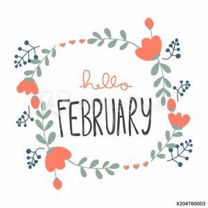 Hello February Clipart