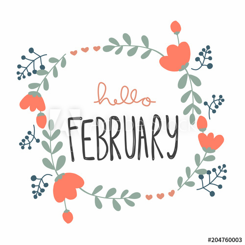 Hello February Clipart