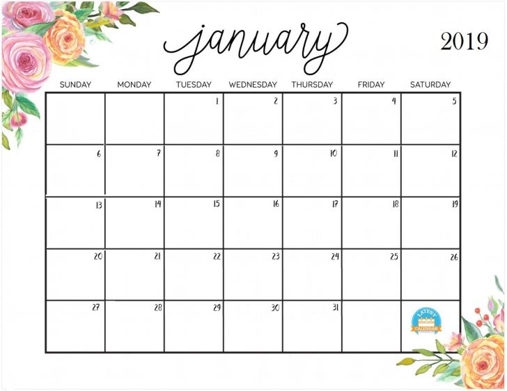 photo regarding Printable Calendars Free titled Jan 2019 Calendar cost-free Printable - Totally free Printable Calendar