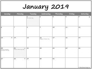 January 2019 Lunar Calendar