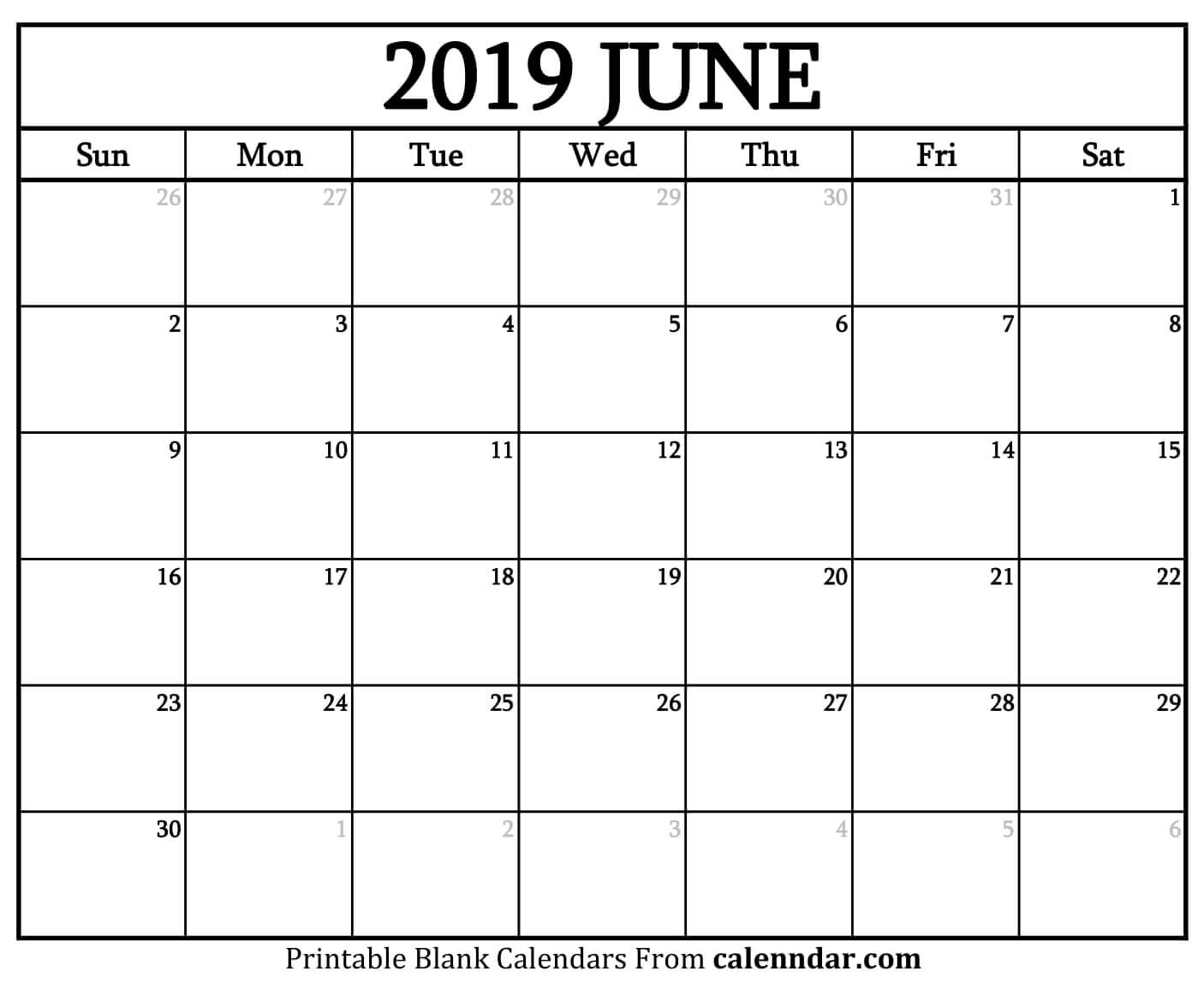 photo about Calendar June Printable named June 2019 Calendar Printable - No cost Printable Calendar