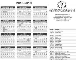 School Holidays 2019 in Canada