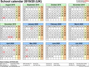 School Holidays 2019 in UK