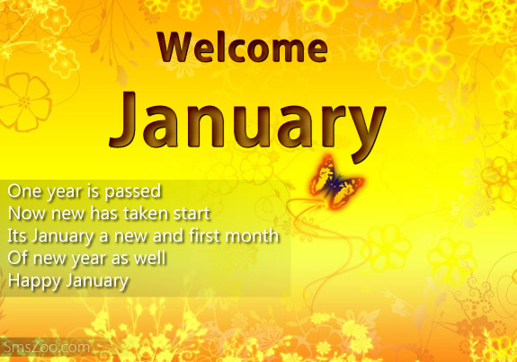 Welcome January Month Pictures