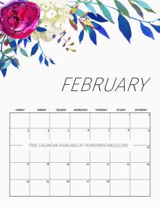 Blank February Calendar 2019 Weekly