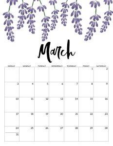 Blank March Calendar 2019 PDF