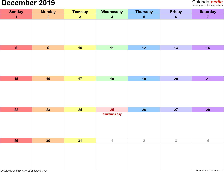 photograph relating to Dec Printable Calendar named December 2019 Calendar Web site - No cost Printable Calendar