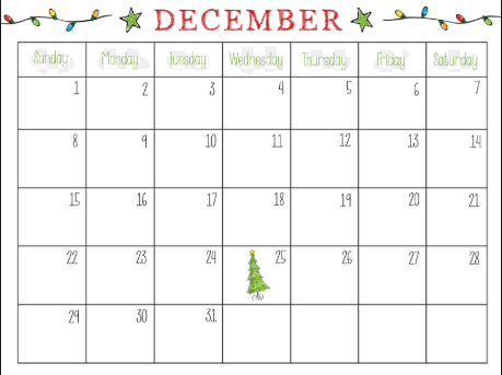 picture relating to Printable Monthly Calendar December referred to as December 2019 Floral Calendar - Absolutely free Printable Calendar