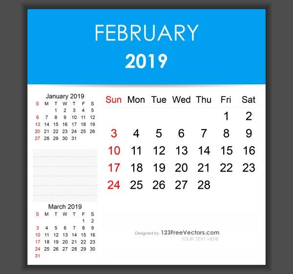 February 2019 Editable Calendar Template