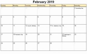 February Calendar 2019 Full Moon