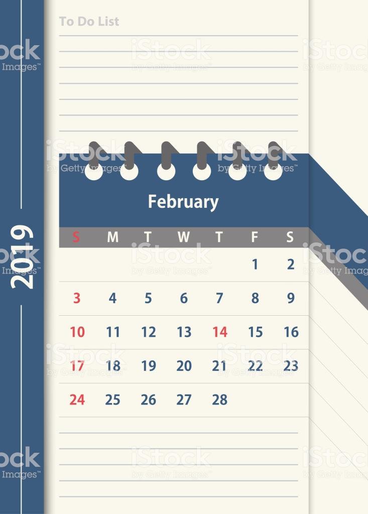 February Calendar 2019 Notes
