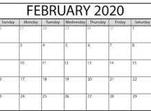 February Calendar 2020