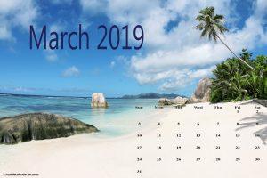 Cute March 2019 Calendar Download