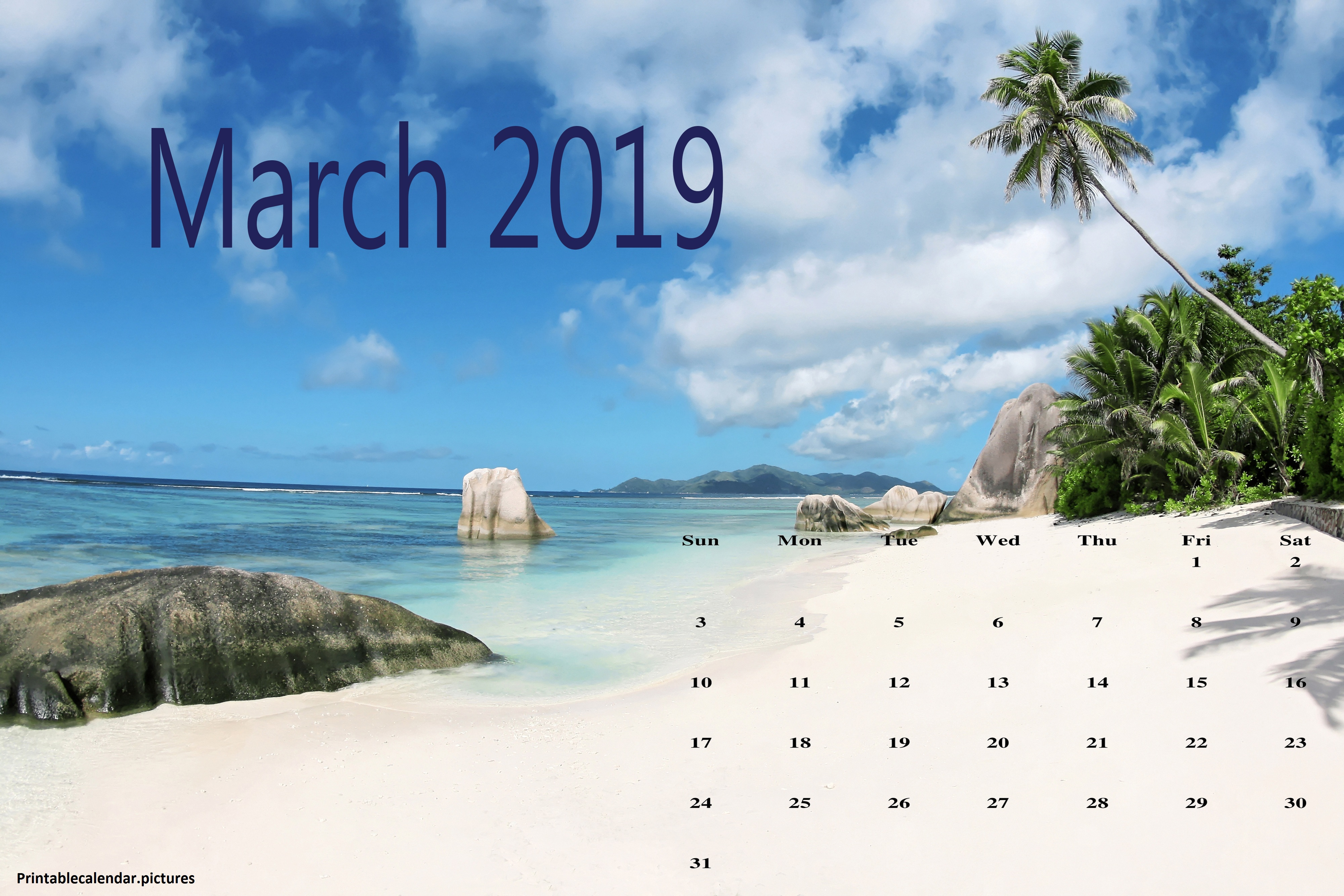 Cute March 2019 Calendar Download