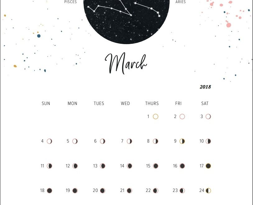 Full Moon Phases March 2019