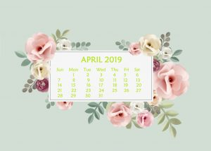 April 2019 Desktop Calendar Wallpaper