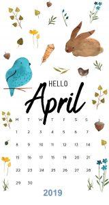April 2019 iPhone Calendar Wallpaper