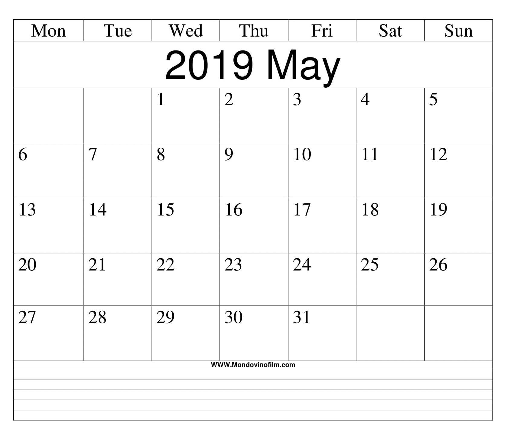 photo regarding May Printable Calendar referred to as Editable May perhaps 2019 Blank Calendar Planner - No cost Printable