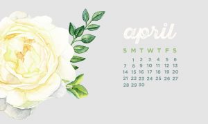 Cute April 2019 Desktop Calendar