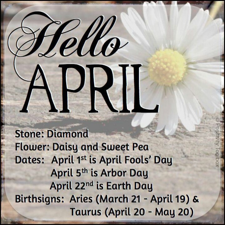 Hello April Birthstone, Birth Flower, and Zodiac Sign