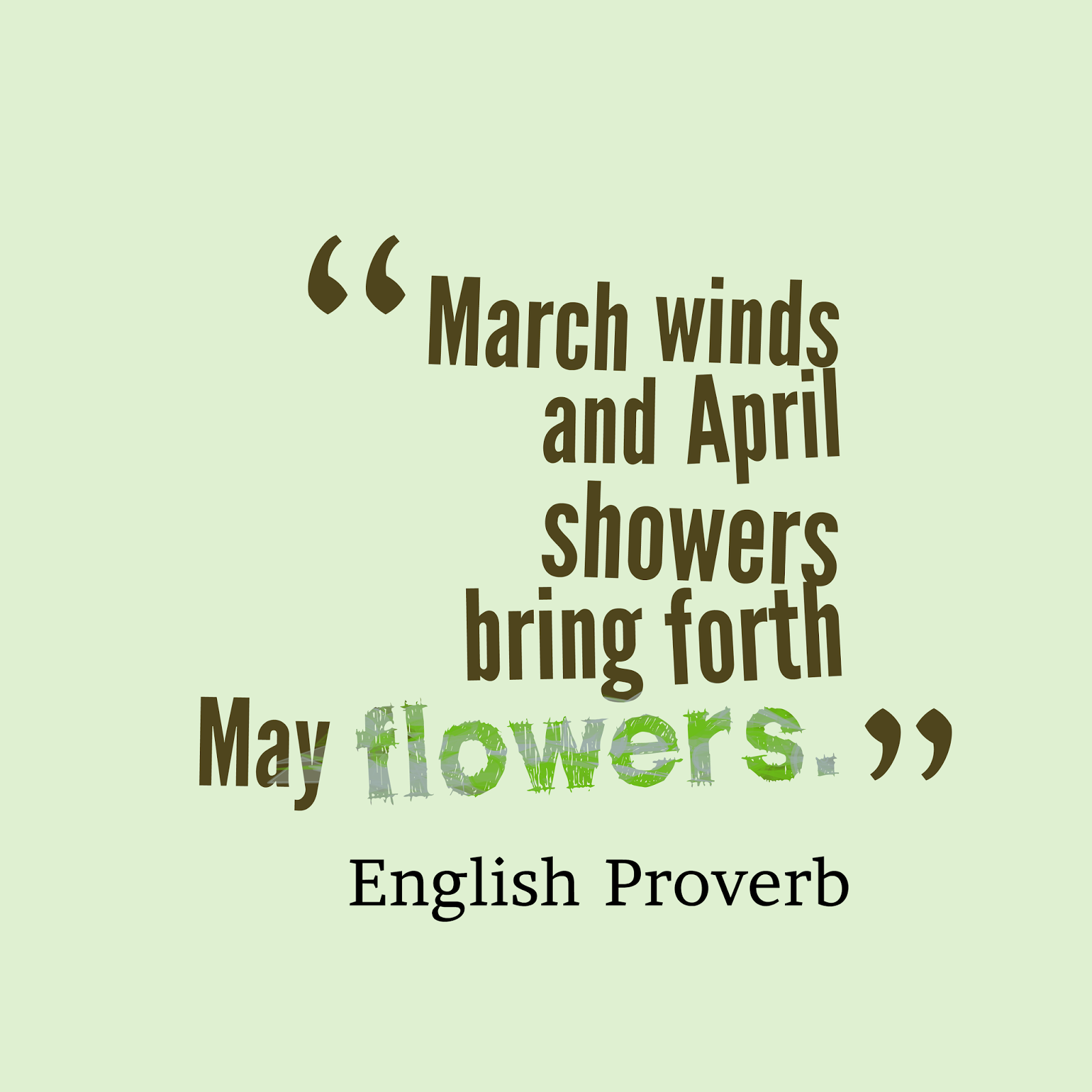 Hello April Positive Quotes