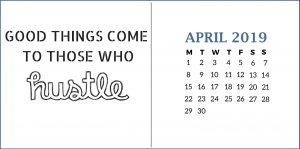 Inspiring April 2019 Quotes Calendar