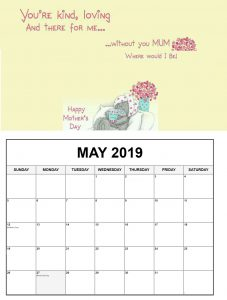 May 2019 Federal Holidays Calendar