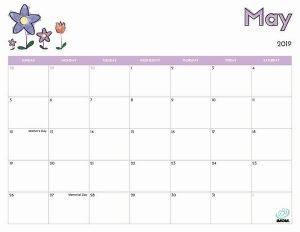 Printable May 2019 Calendar With Holidays