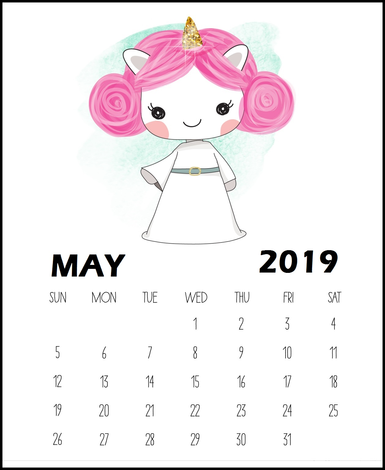 Cool May 2019 Calendar To Print