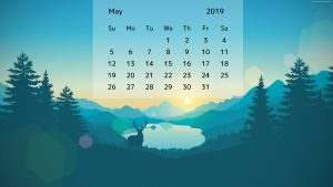 Cute May 2019 calendar wallpaper