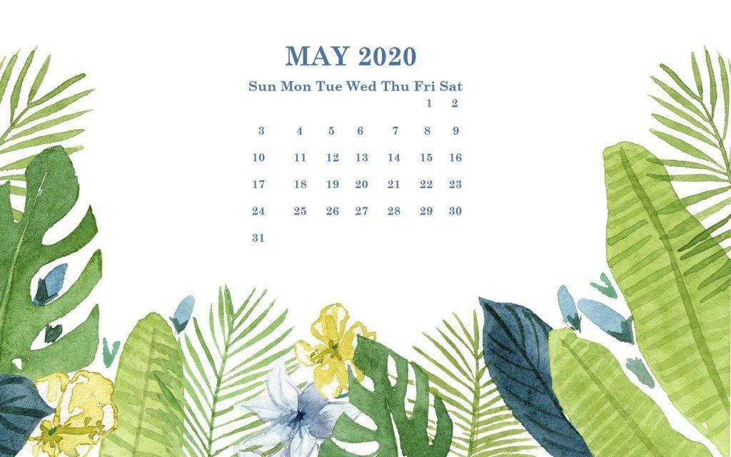 Cute May 2020 Desktop Calendar Wallpaper