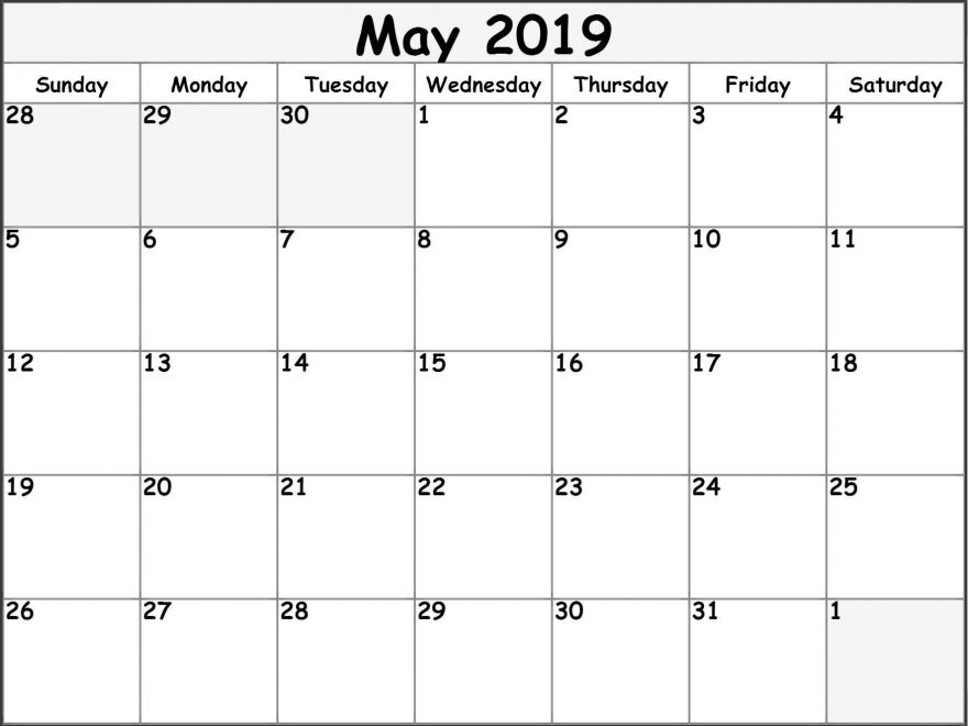 Free Calendar May 2019
