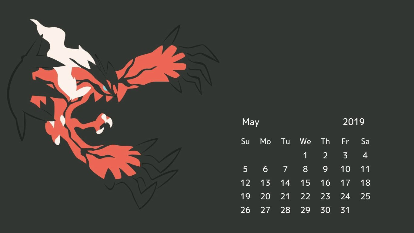 May 2019 Calendar Desktop Wallpapers