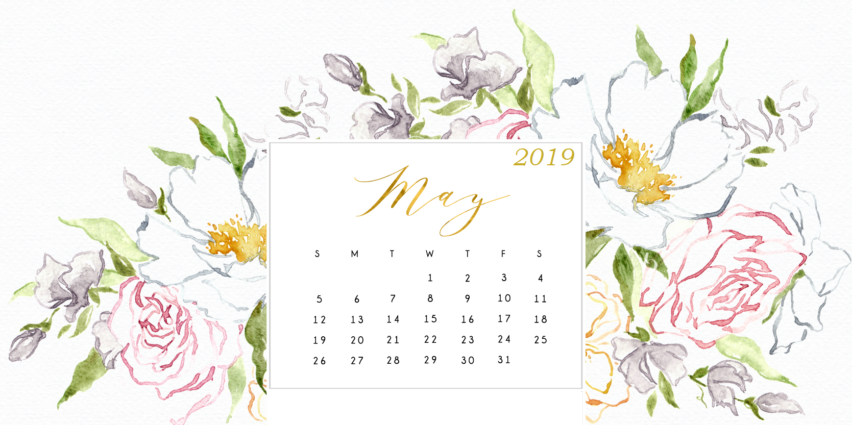 May 2019 Calendar Wallpaper For Desktop