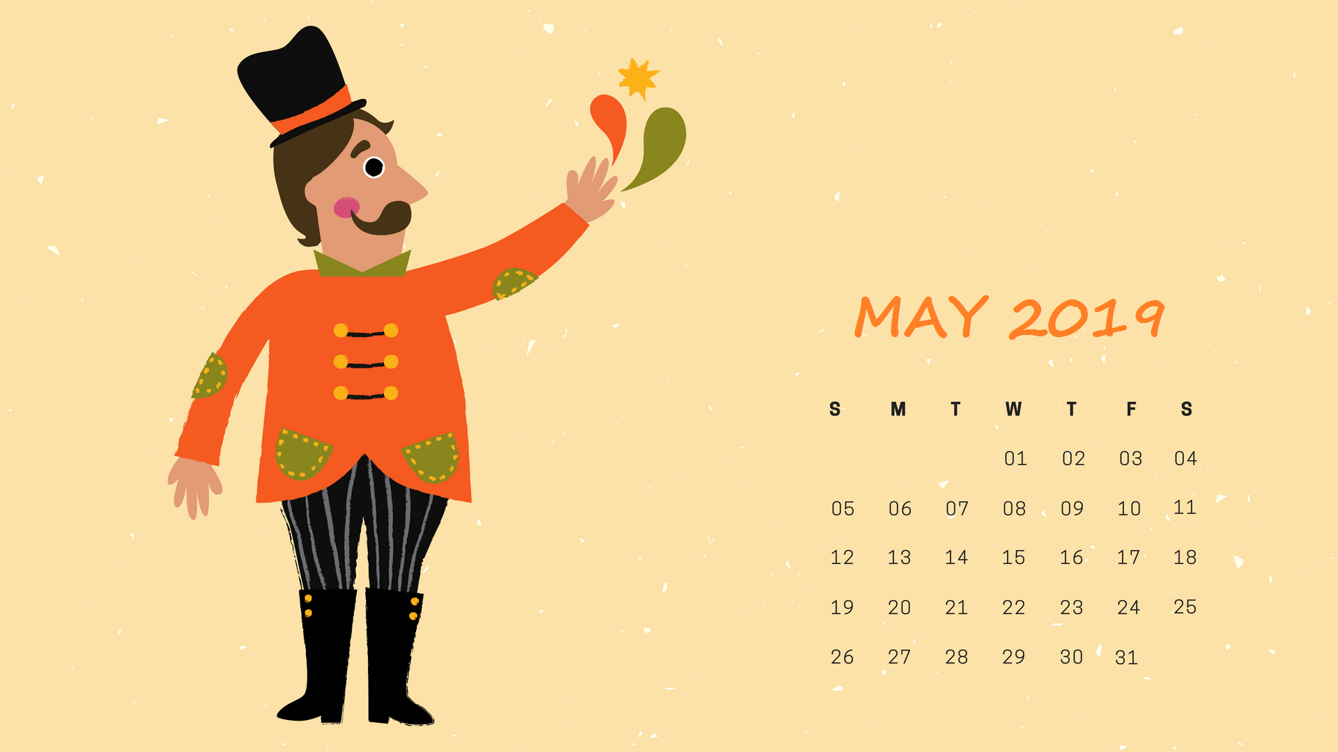 May 2019 Calendar Wallpaper